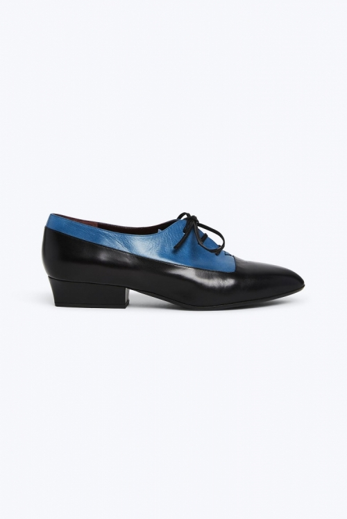 Colorblock Heeled Oxford